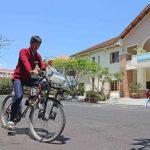 Xe đạp lọc khí, sáng tạo bảo vệ môi trường của học sinh